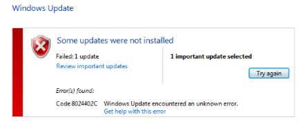 8024402c : Windows Update error code Fixed