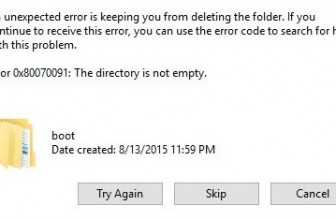 Fix Error 0x80070091: The Directory is not empty