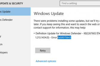 Error Code 0x80070643 – 6 Ways to Fix in Windows