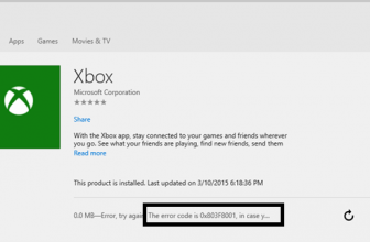 0x803f8001 : Fix Xbox error in Windows app store