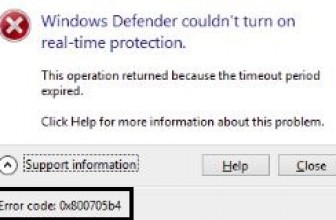 Windows Defender Error 0x800705B4 fixed