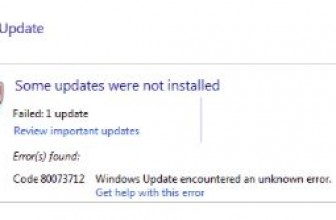 Code 0x80073712 : Windows Update error Solutions